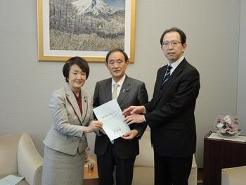 28年12月16日「福島の復興・創生について」に係る要望活動(菅内閣官房長官)
